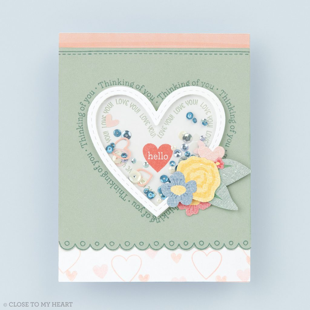 CTMH Thinking of You Shaker Card