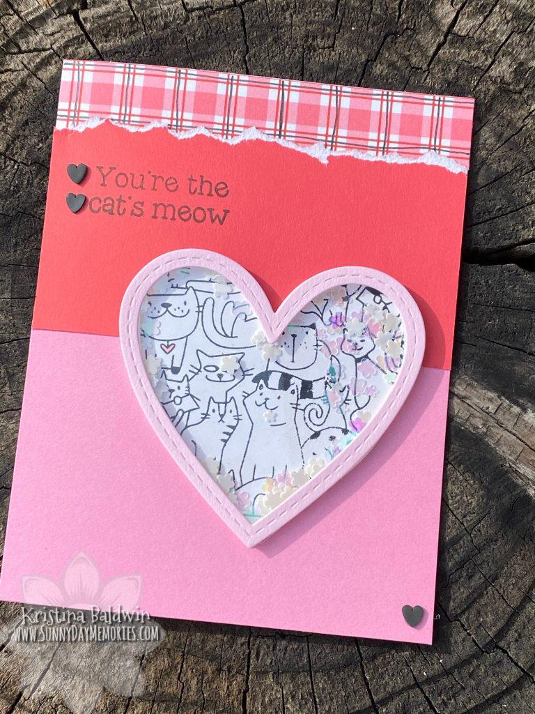 Cat's Meow Shaker Valentine Card