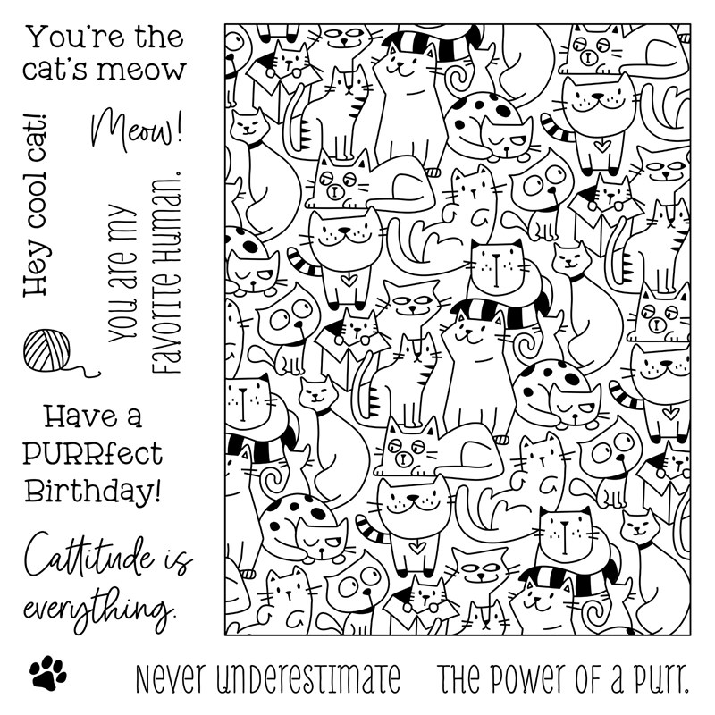 CTMH Cattitude Stamp Set