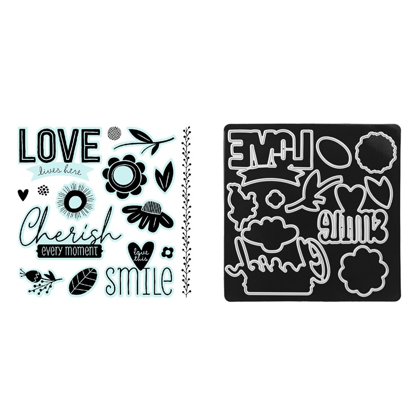 CTMH Cherished Blossoms Stamp + Thin Cuts