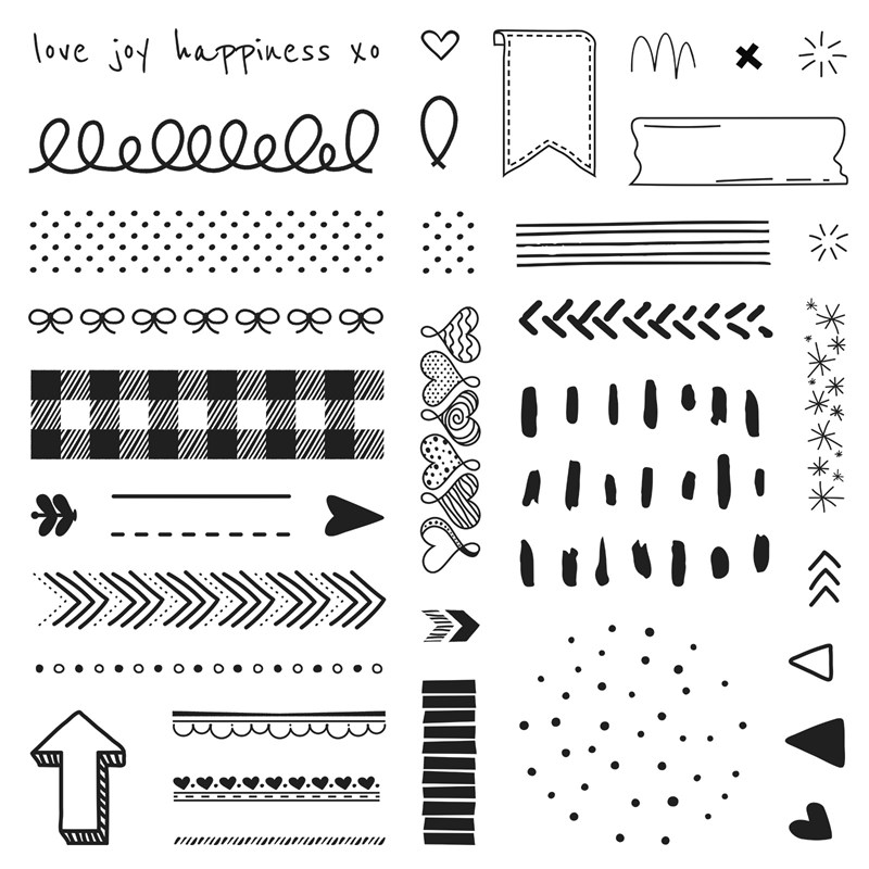 CTMH Doodled Borders Stamp of the Month