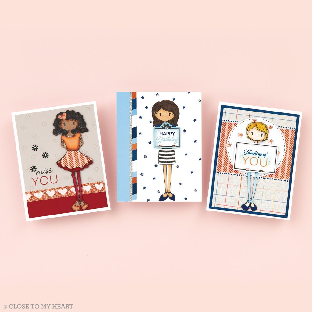 CTMH Little Miss Message Card Samples