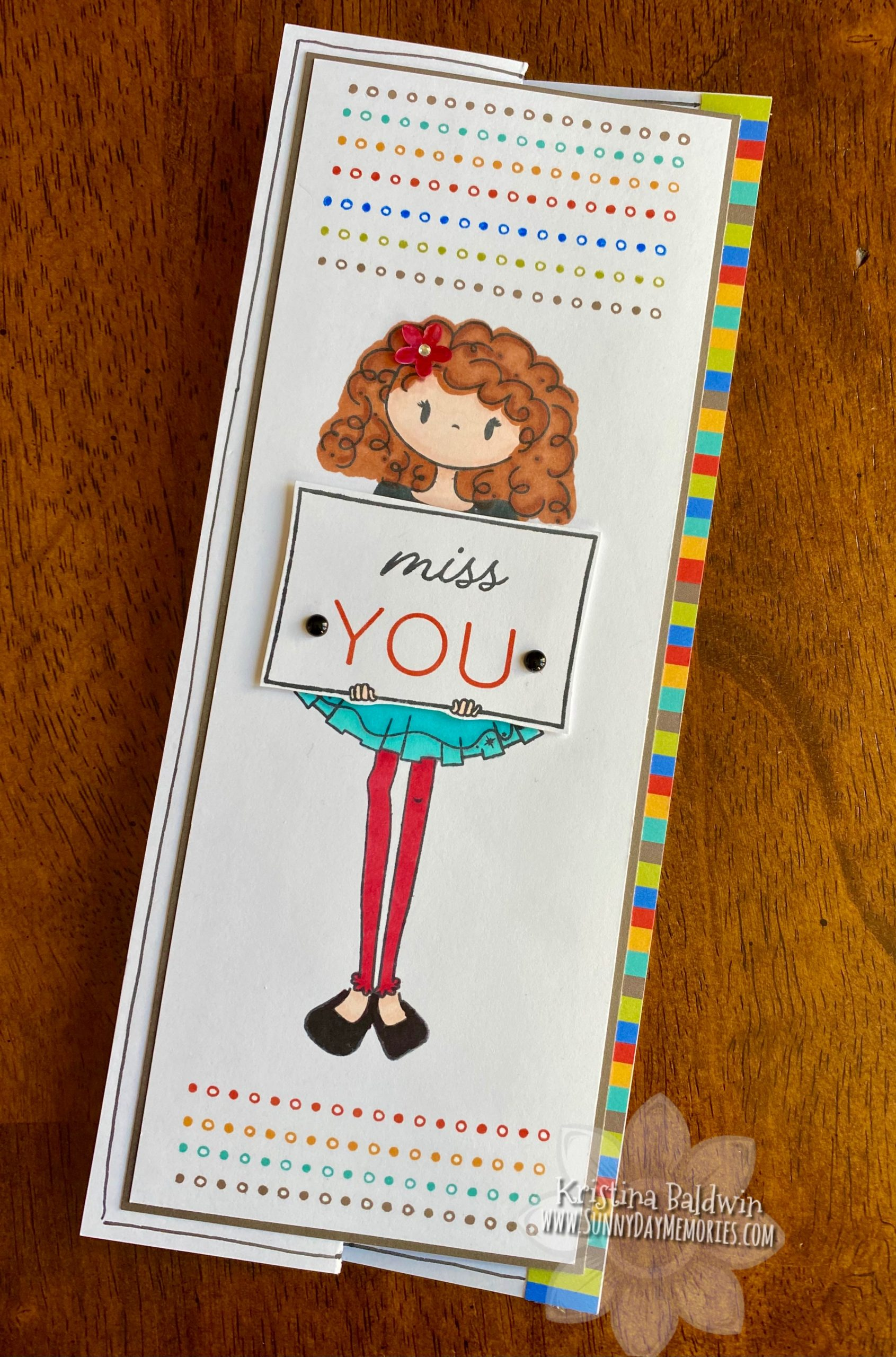 Doodled Borders Miss You Card