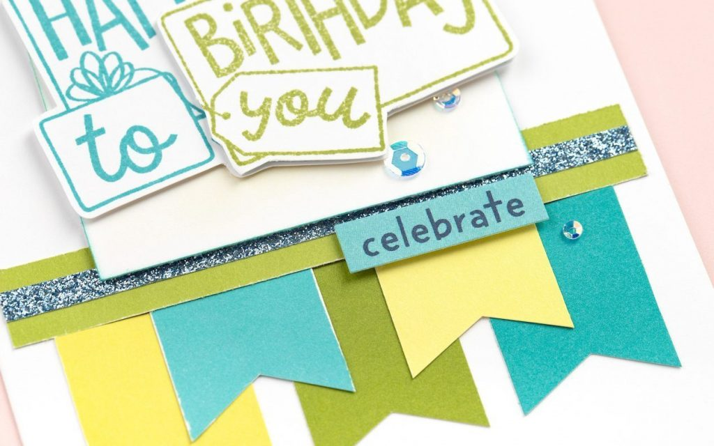 CTMH Birthday Card Closeup of Sanded Cardstock