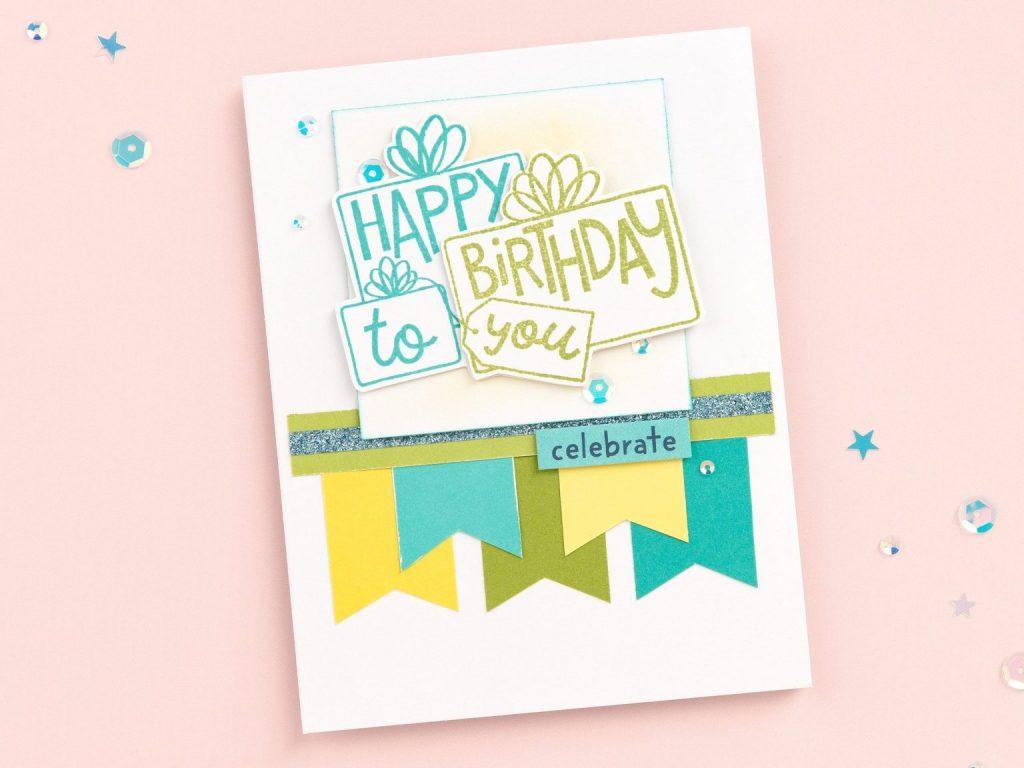 CTMH Birthday Pennant Card