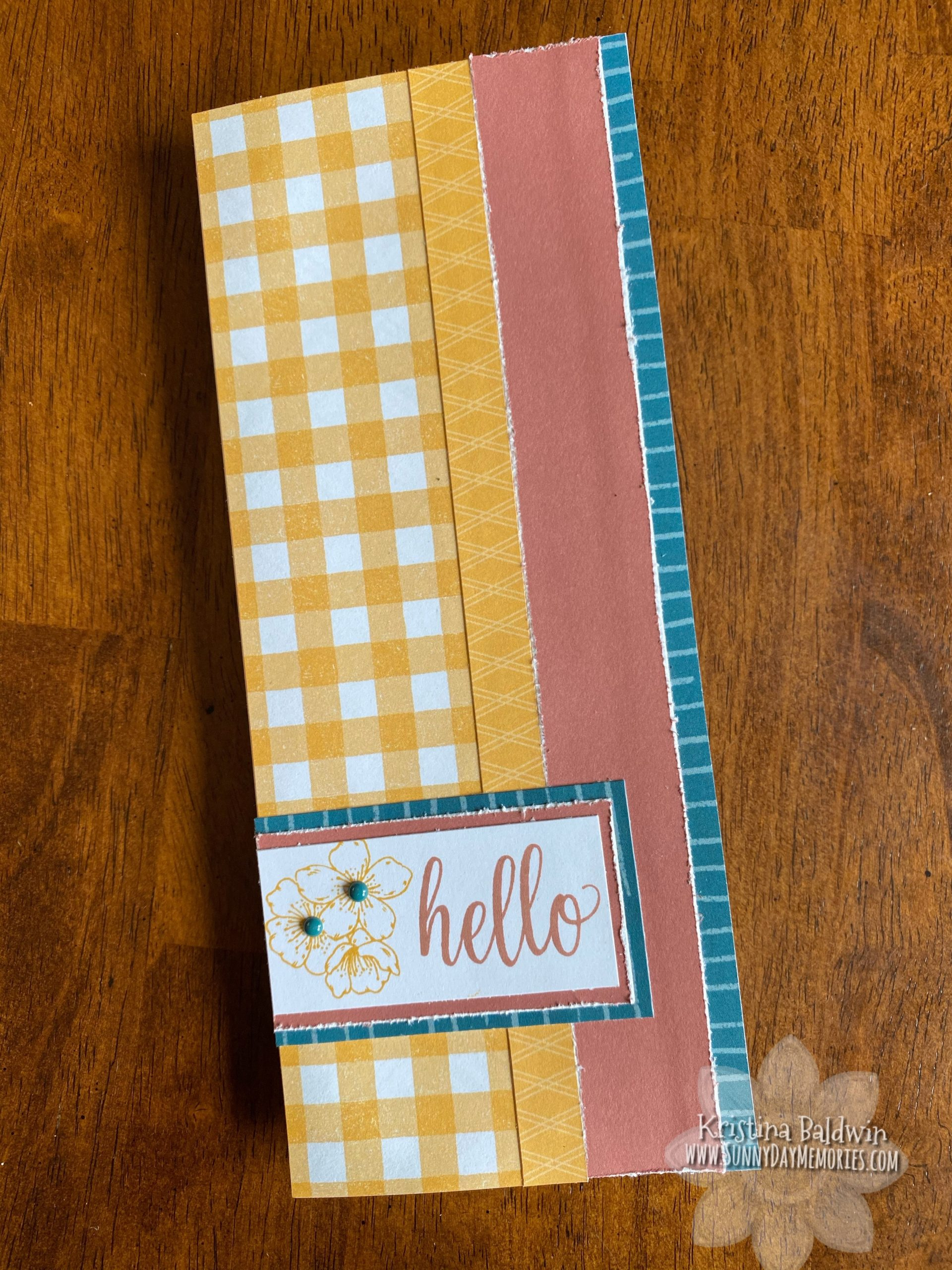 CTMH Cherry Blossoms Hello Card