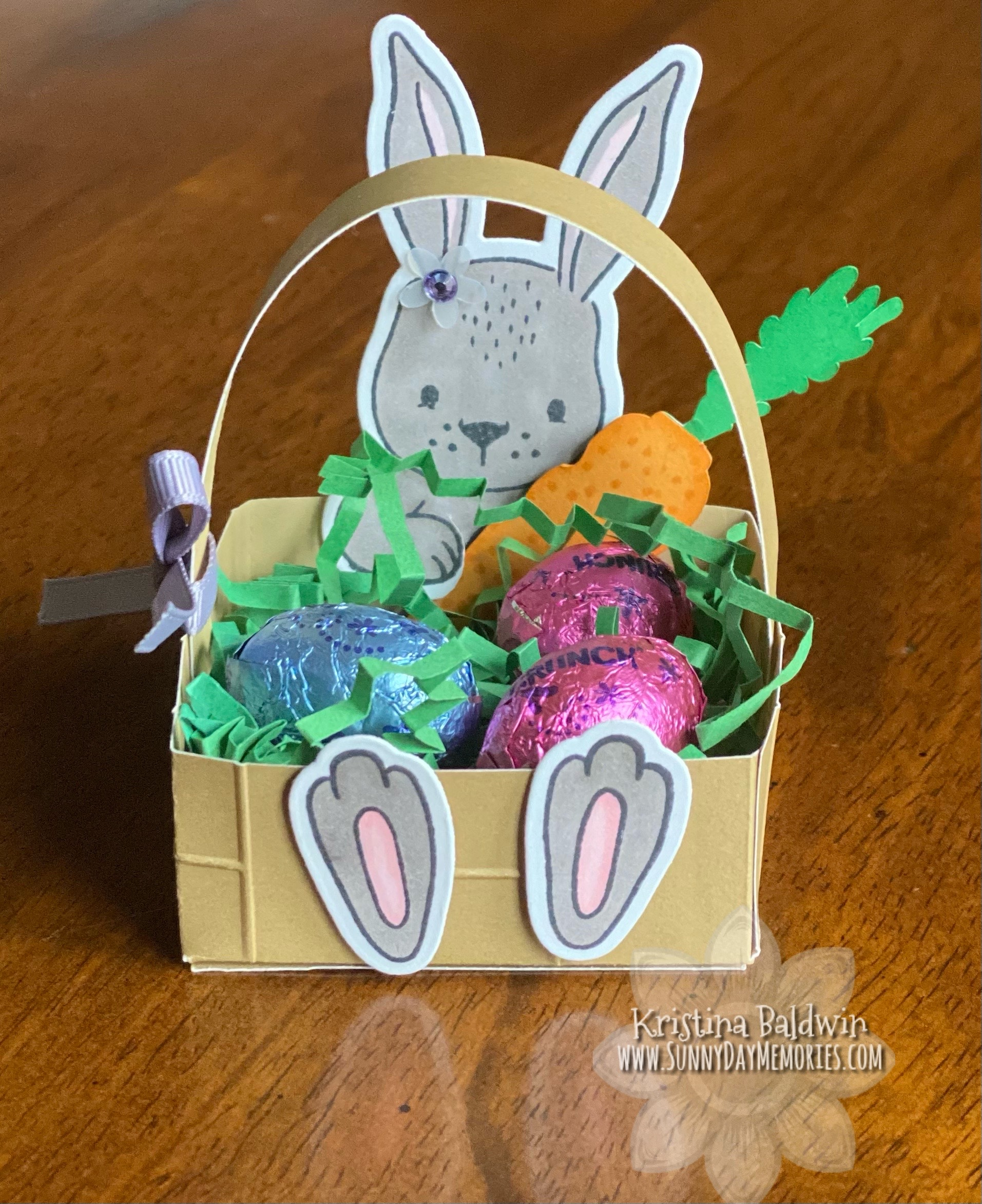 CTMH Daisy Meadows Cardmaking Easter Bunny Basket