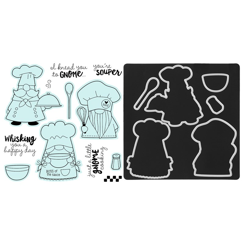 CTMH Kitchen Gnomes Stamp + Thin Cuts