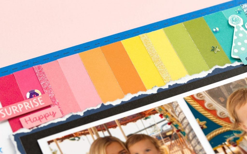 CTMH Two-tone Cardstock Layout Closeup