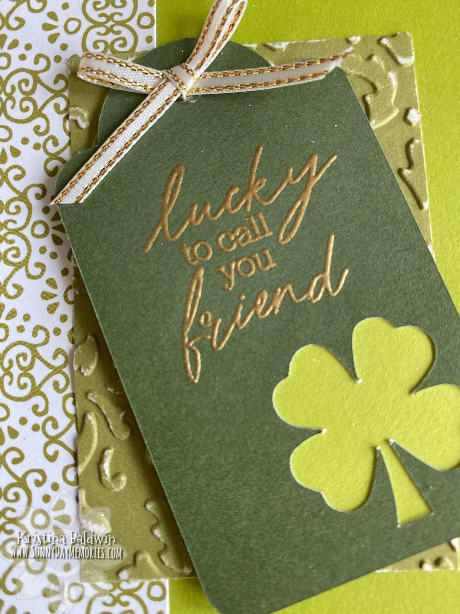 Lucky to Call You Friend Card Closeup