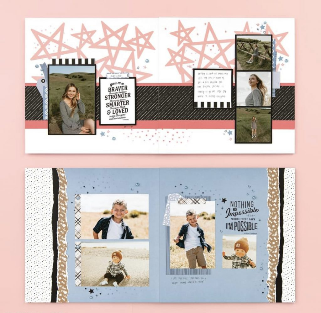 CTMH More Than You'll Ever Know Scrapbook Layouts