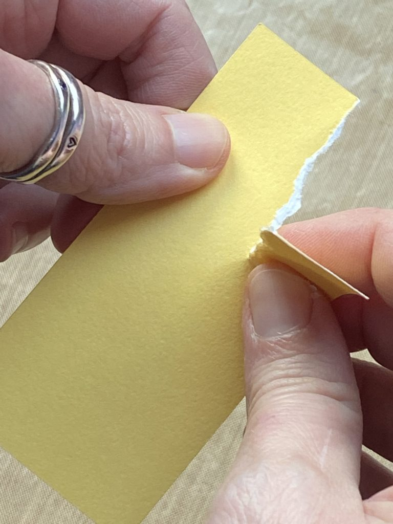 3 Techniques with CTMH's White Core Cardstock Tearing