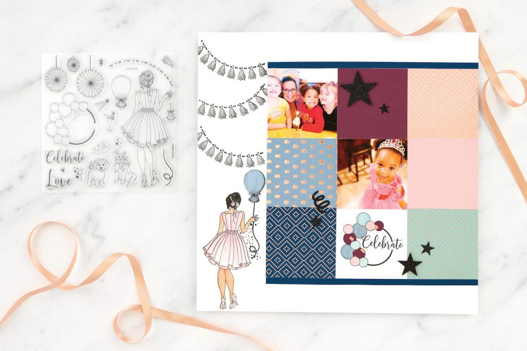 Party Girl Scrapbook Kit for Close To My Heat's National Scrapbooking Day Celebration