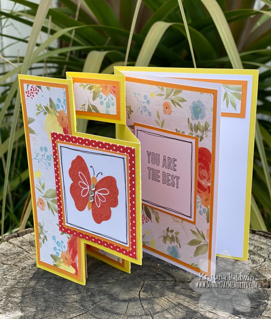 Mothers Are the Best Butterfly Card Opened