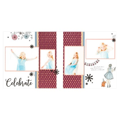 CTMH Party Girl Celebrate 2-Page Layout