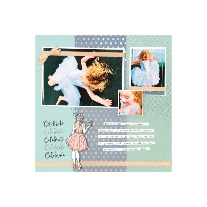CTMH Party Girl Celebrate Single Page Layout