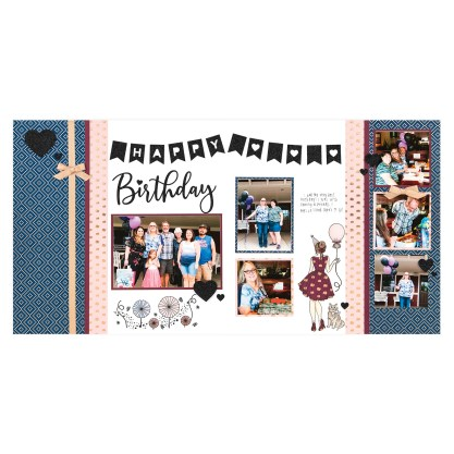CTMH Party Girl Birthday 2-Page Layout