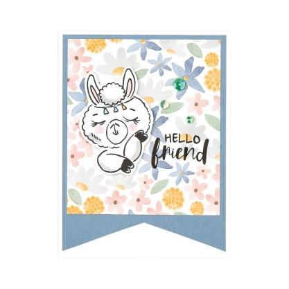 CTMH Hello Friend Llama Card