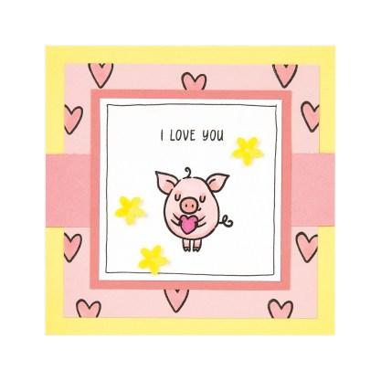 CTMH These Little Piggies Mini Album Inside Cover