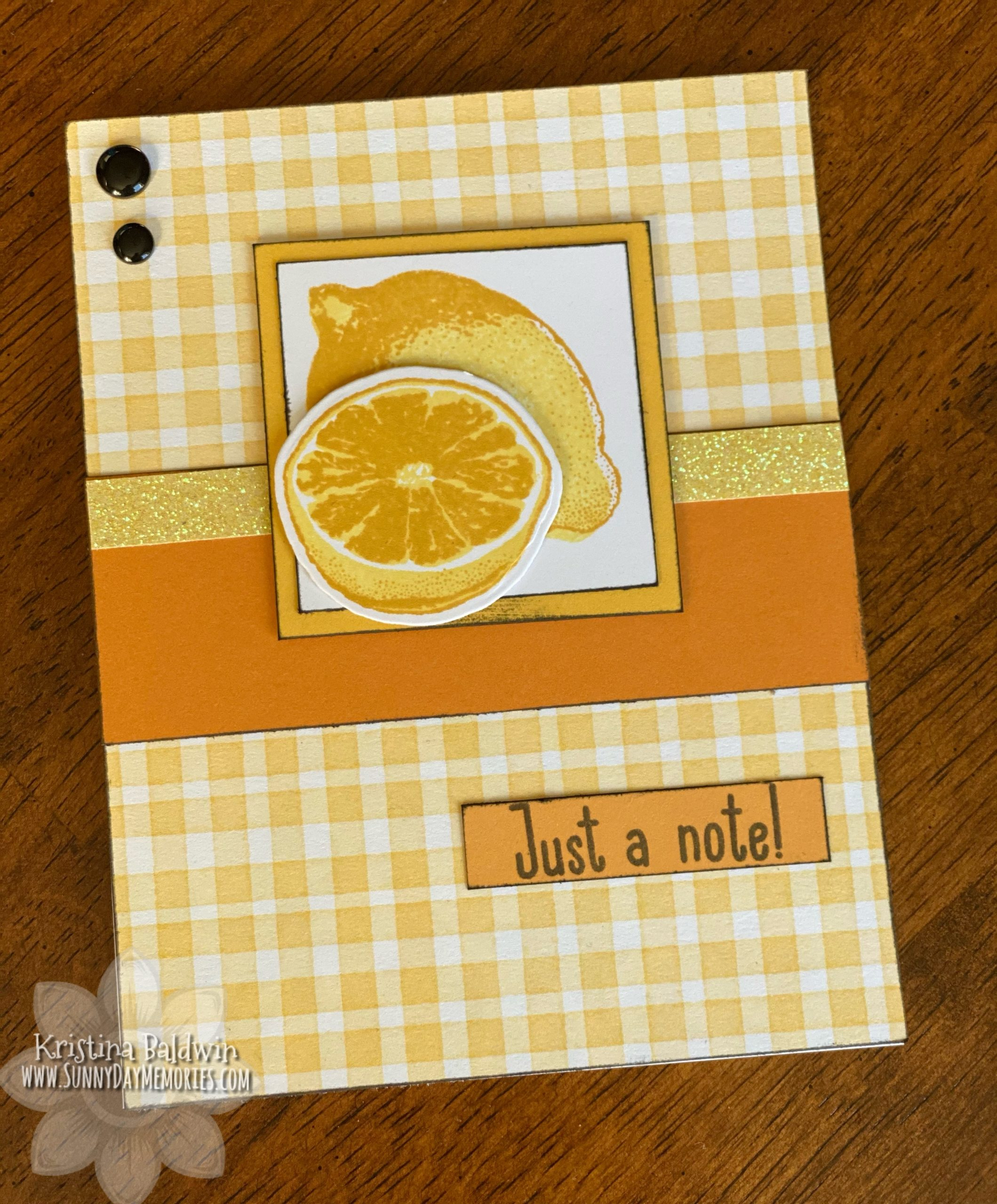 CTMH Just a Note Sweet Fruit Card