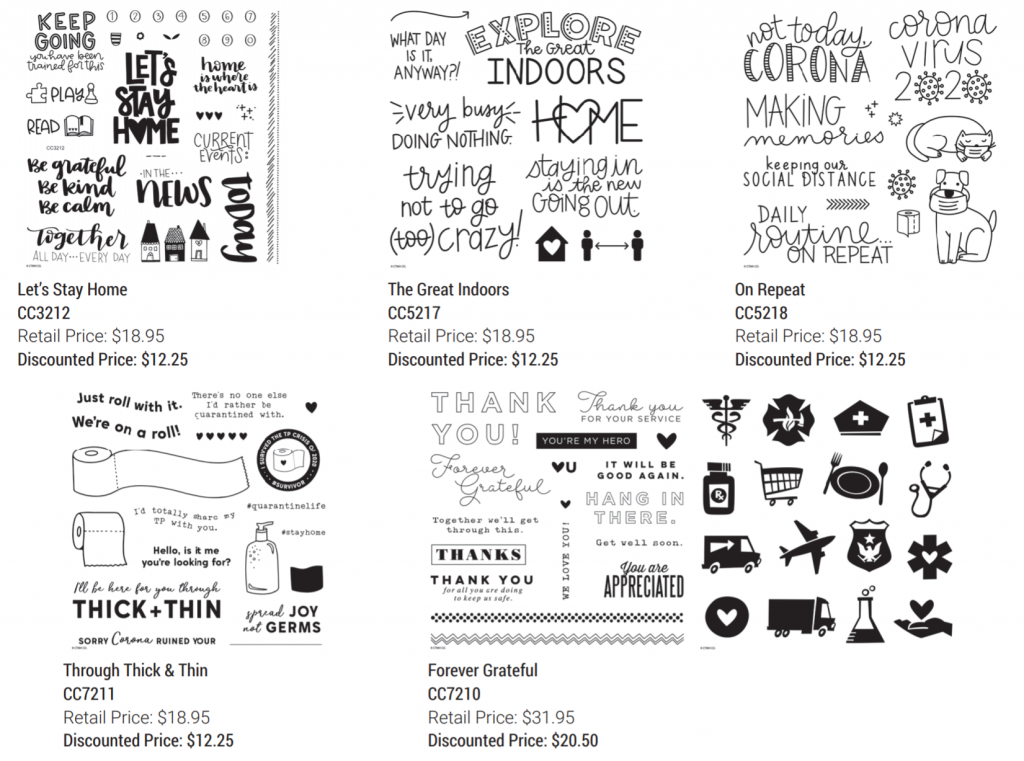 CTMH Limited-edition Covid Stamp Sets
