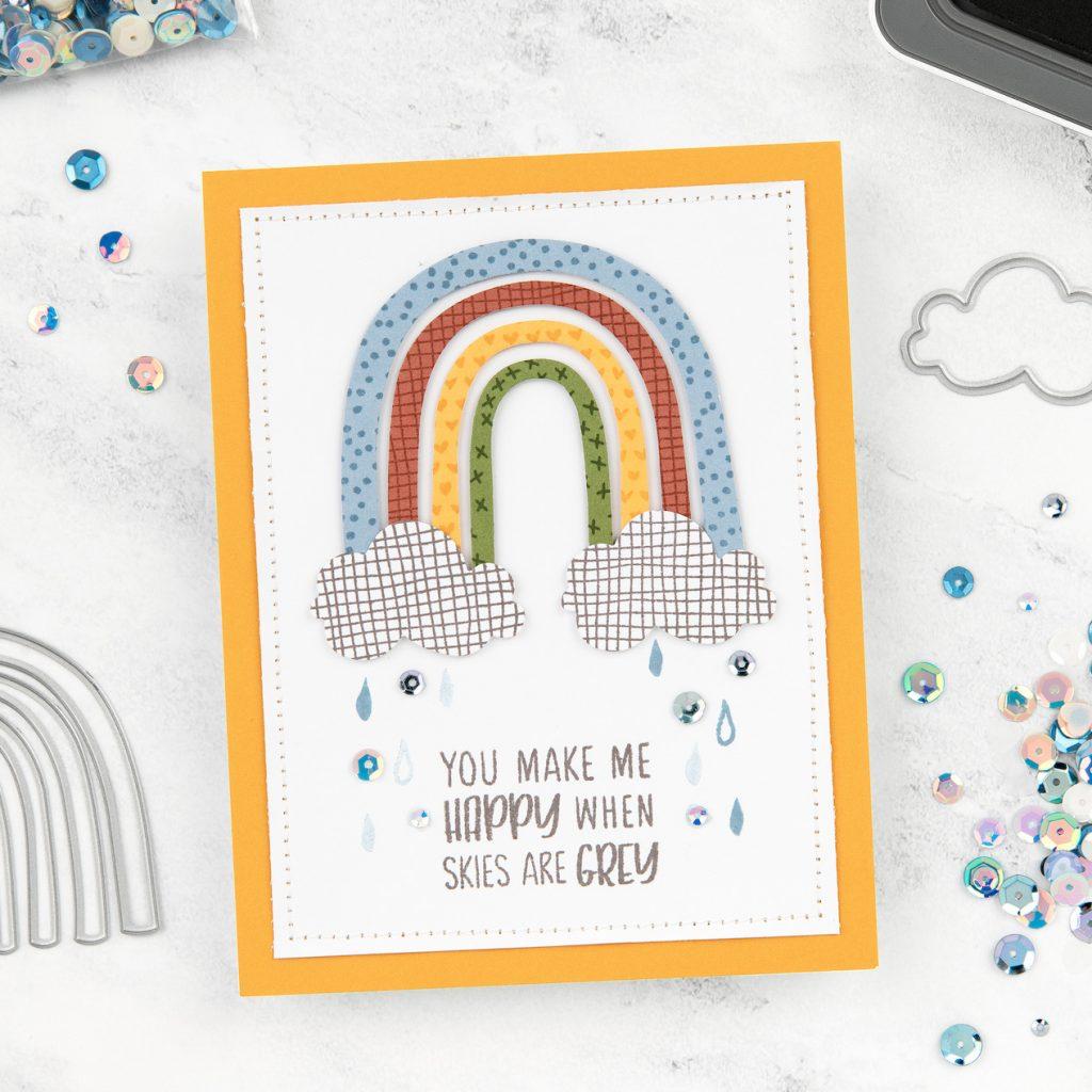 CTMH Build a Rainbow Thin Cuts Card