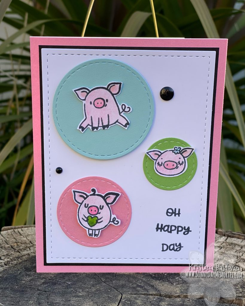 These Little Piggies Oh Happy Day Card