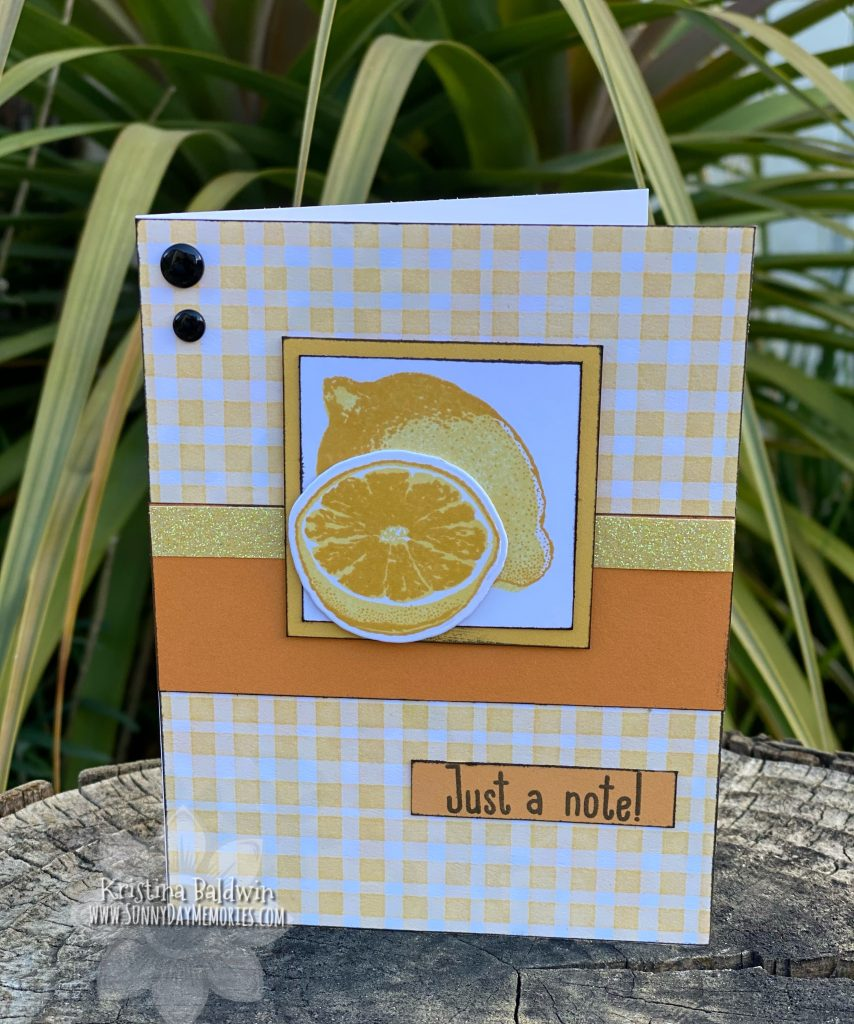 CTMH Sweet Fruit Just a Note Card