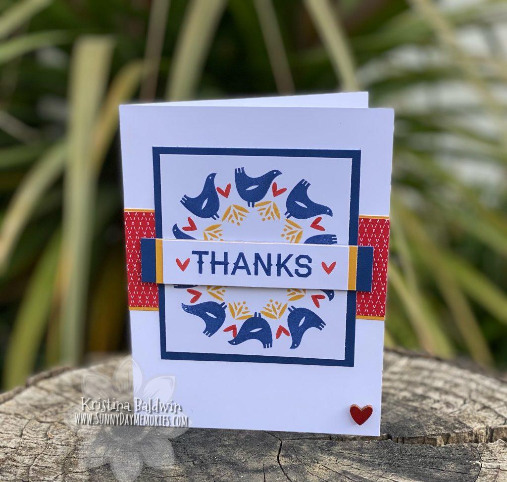 Scandinavian Folk Art Thanks Card