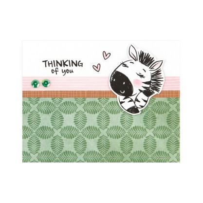 CTMH Thinking of You Zebra Card