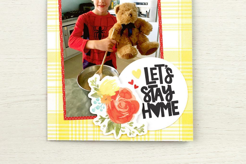 CTMH Let's Stay Home Layout Closeup