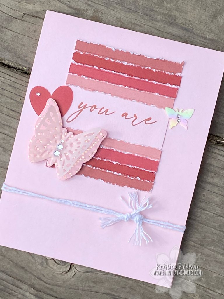 You Are Wonderful Butterfly Card Flat