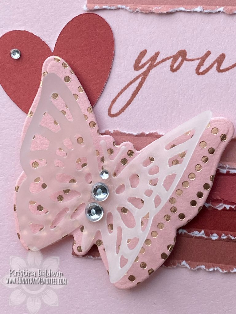 You Are Wonderful Butterfly Card Closeup