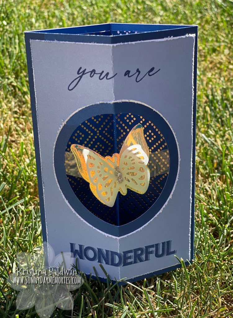 CTMH You Are Wonderful Floating Box Card