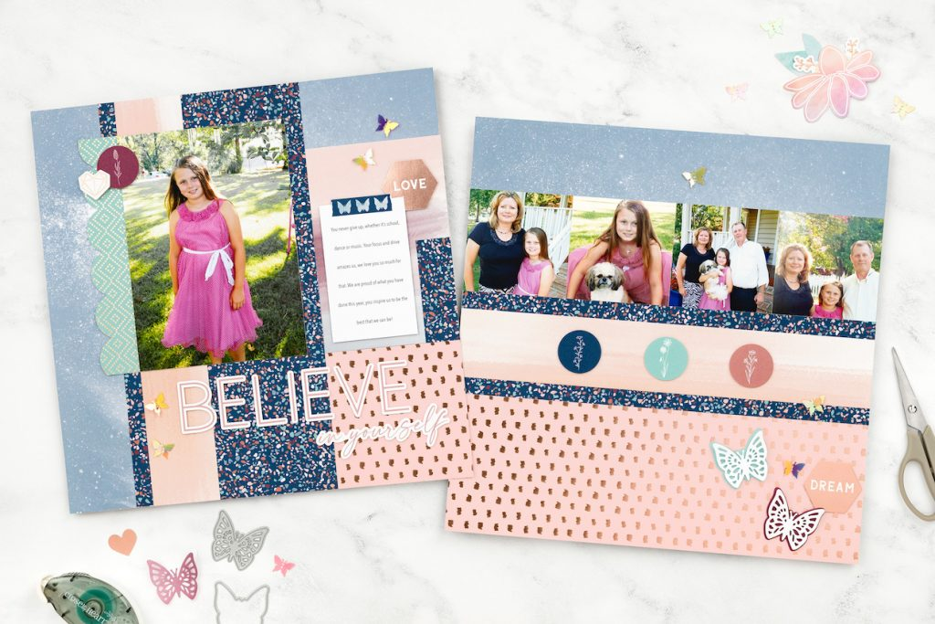 CTMH You Are Enough Scrapbook Layout
