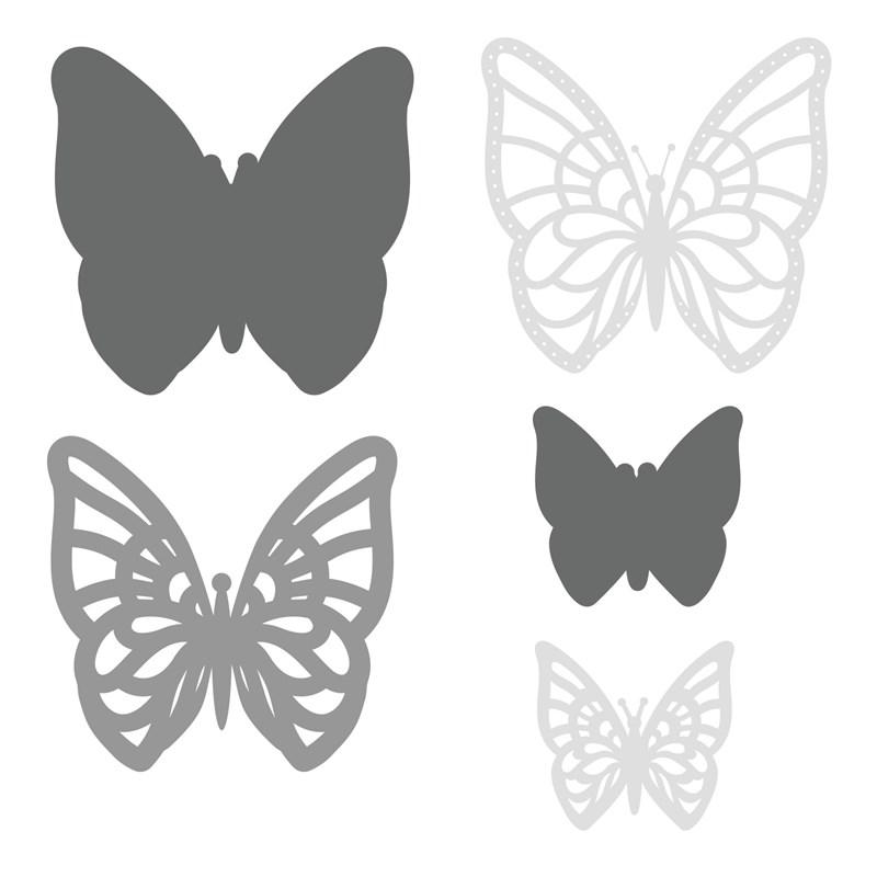 CTMH Layered Butterflies Thin Cuts