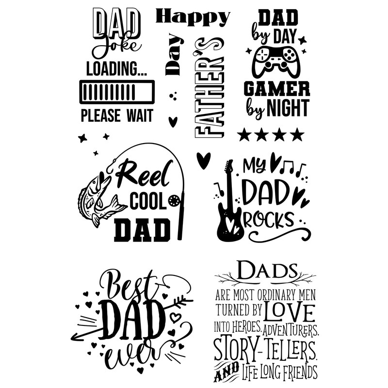 CTMH No Ordinary Dad Stamp Set Bundle