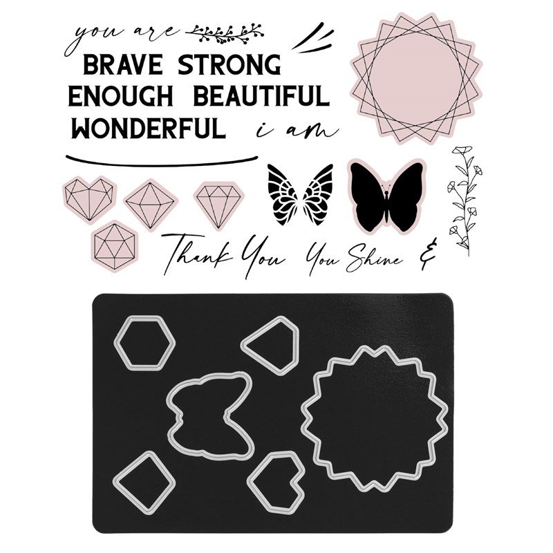 CTMH You Are Enough Stamp + Thin Cuts