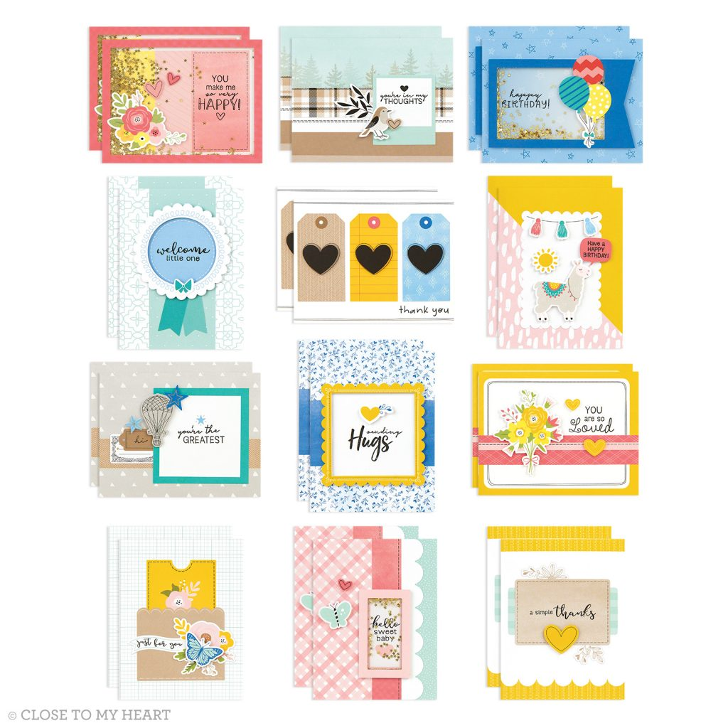 CTMH Craft with Heart Cardmaking Kit Card Samples