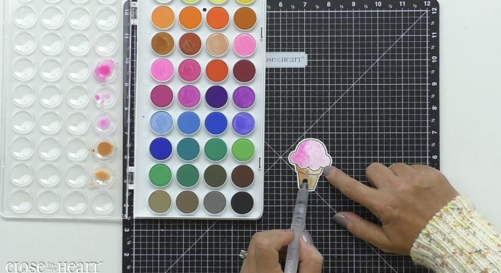 Shadow Painting with Watercolor Paints
