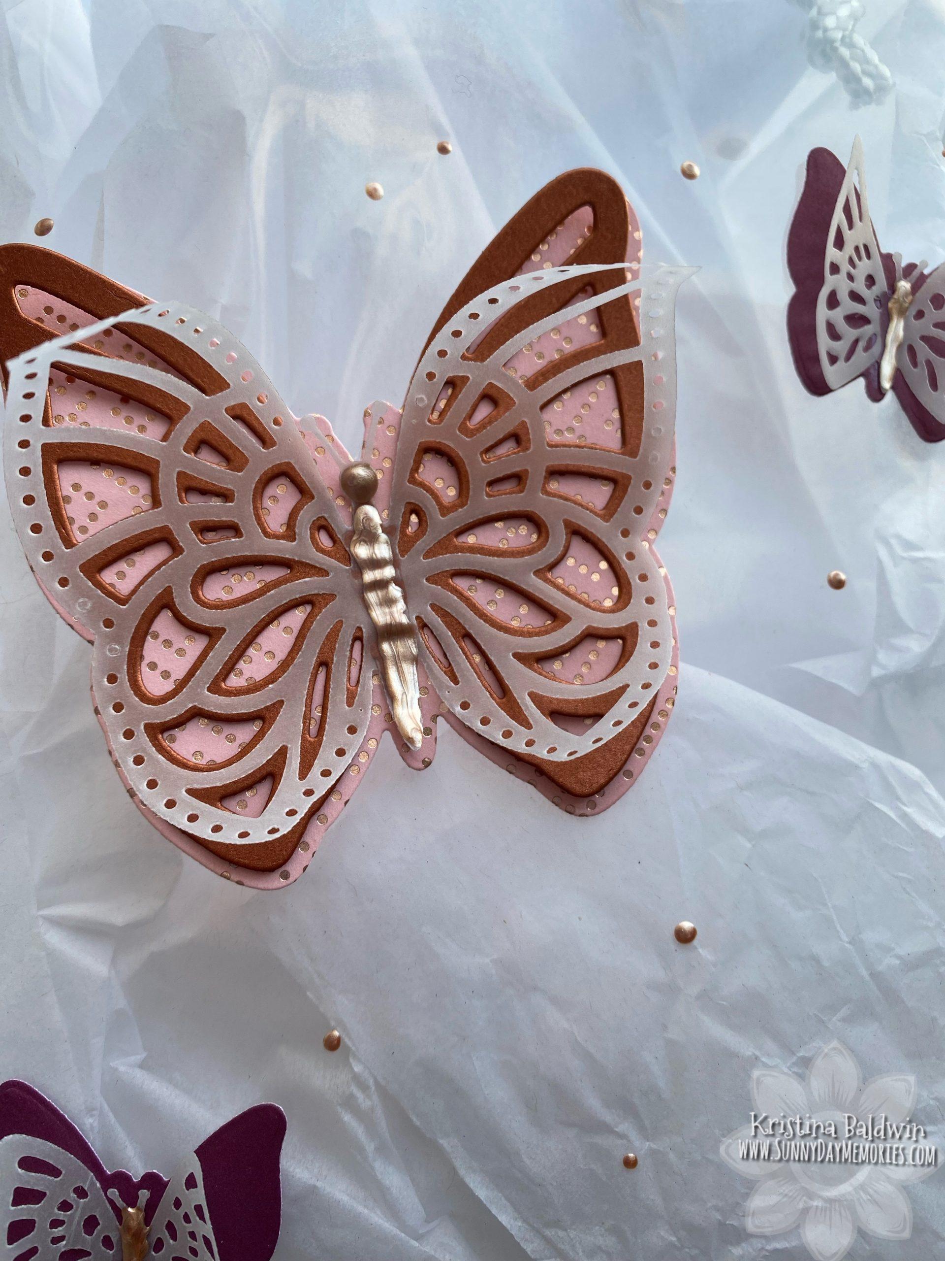 CTMH Layered Butterflies Bag Closeup