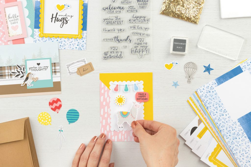 CTMH Craft with Heart Cardmaking Subscription Box Contents