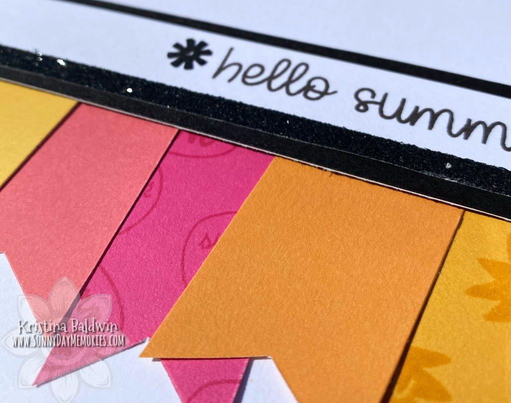 Closeup of Hello Summer Banner Card