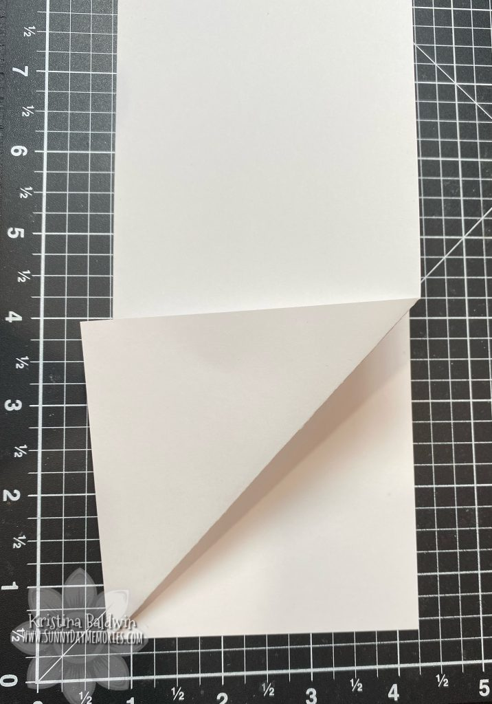 Step 1 DIY Fun Fold Slimline Card