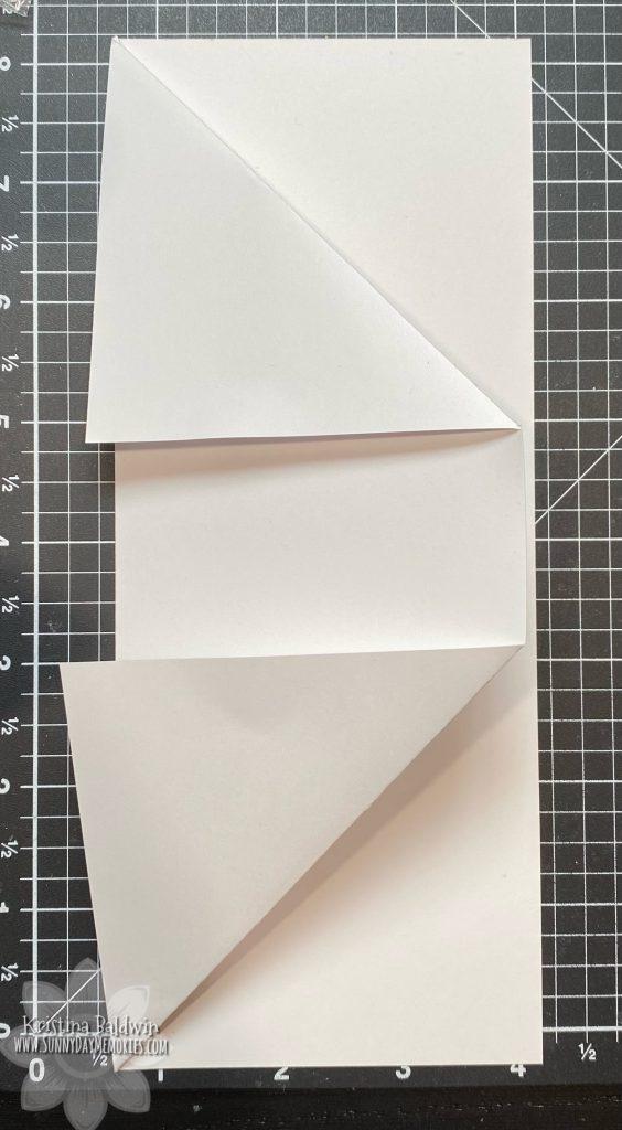 Step 2 DIY Fun Fold Slimline Card