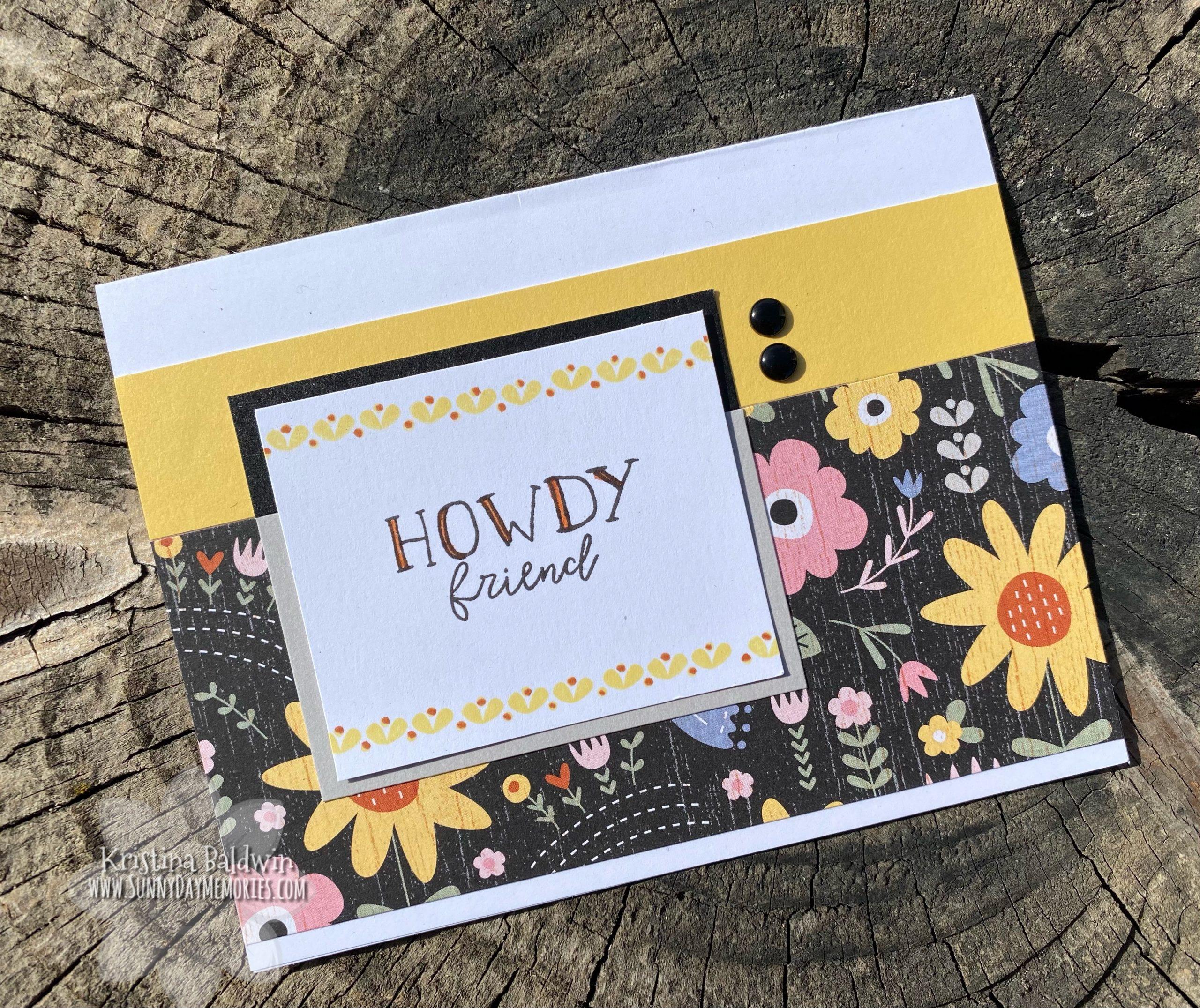 CTMH Hillside Cottage Howdy Friend Card
