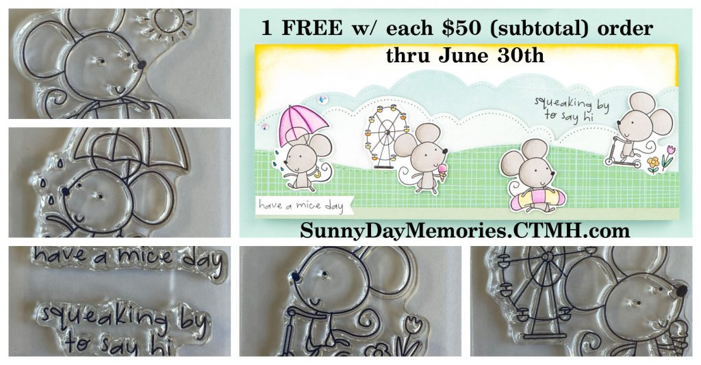 Freebie CTMH Mouse Stamp Set with purchase