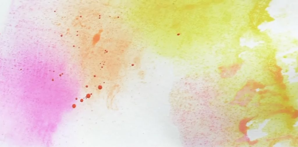 Splattering with Watercolor Paints
