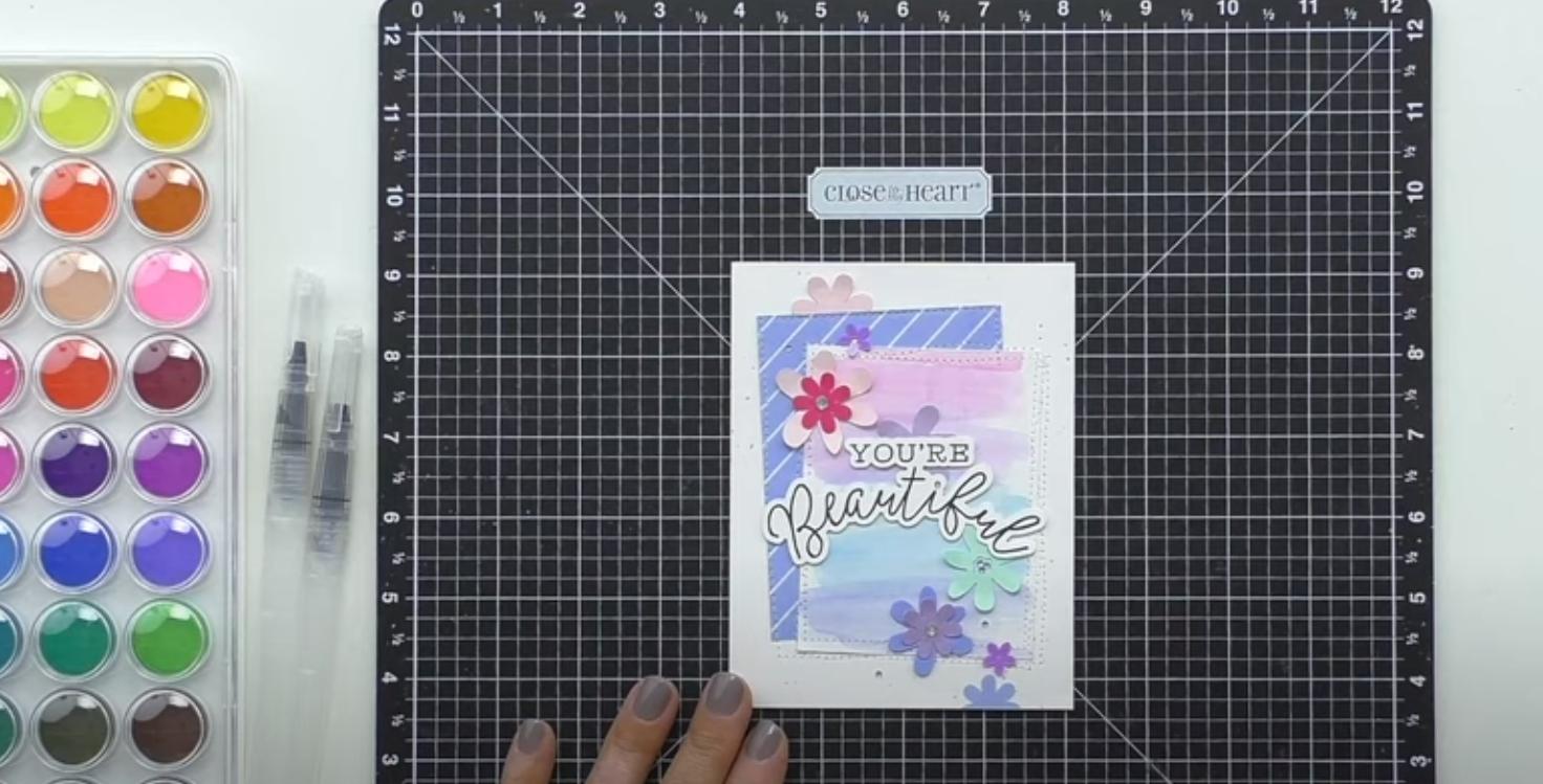 You're Beautiful Watercolor Card