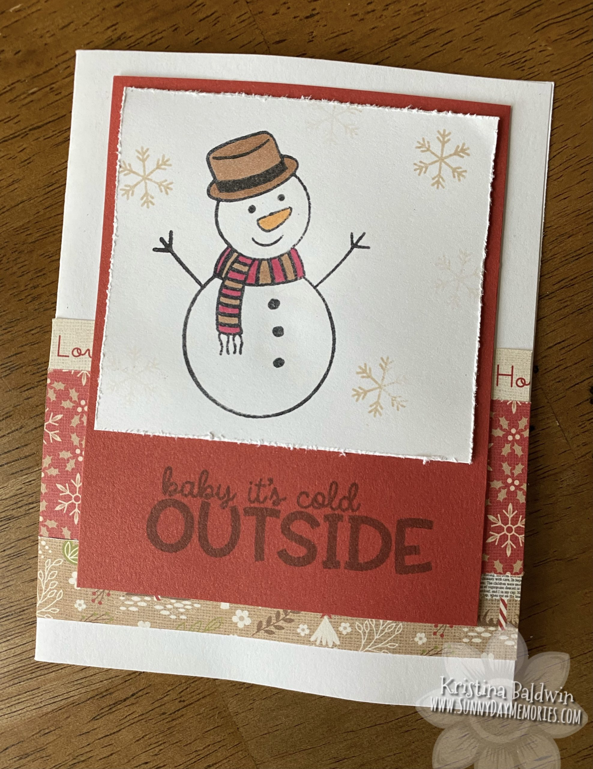 Baby Its Cold Outside Snowman Card